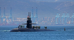 United States Navy Los Angles-class USS Olympia (SSN-717) arriving at HM Naval Base, Gibraltar (Mosh70) Tags: gibraltar hmnavalbasegibraltar hmnavalbase hmnb royalnavy unitedstatesnavy usn ussolympia ssn717 losangelesclass