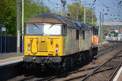 70814, 56113 & 56090 at Morpeth (stephen.lewins (1,000 000 UP !)) Tags: class70 70814 class56 56090 56113 colas railways ecml morpeth northumberland grids