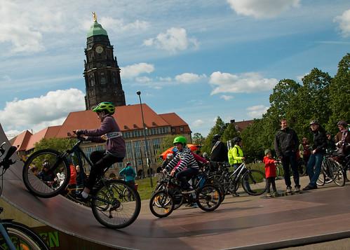 #MehrPlatzFürsRad-Demo in Dresden