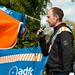 Nils Larsen aus dem Vorstand des ADFC Dresden auf der #MehrPlatzFürsRad-Demo in Dresden