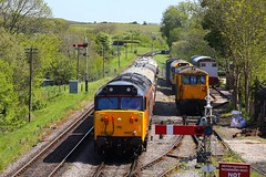 50007 Corfe Castle (Robert Sherwood) Tags: 50007 arrives corfe castle hauling 1415 from swanage saturday 11th may 2019