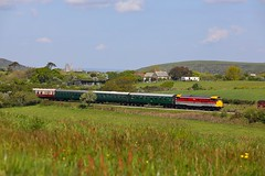 31163 Harmans Cross (Robert Sherwood) Tags: 31163 approaches harmans cross hauling 1039 corfe castle swanage sunday 12th may 2019