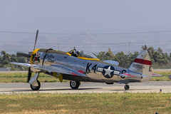 Dottie Mae Taxiing Out (dcnelson1898) Tags: 2019planesoffameairshow planesoffamemuseum chino chinoairport california airshow aviation airplanes flight militaryhistory p47ddottiemae republicp47dthunderbolt fighter usarmyaircorps worldwar2 closeformationflying