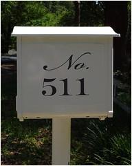 Mailbox   Red Oak Park neighborhood   Marietta, GA (steveartist) Tags: mailbox traditionalmailbox typography classicletterforms scriptstyle serifstyle sonydscwx220 snapseed stevefrenkel mariettaga
