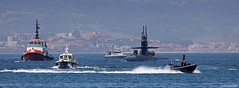 United States Navy Los Angles-class USS Olympia (SSN-717) arriving at HM Naval Base, Gibraltar (Mosh70) Tags: gibraltar hmnavalbasegibraltar hmnavalbase hmnb royalnavy rn usn unitedstatesnavy losangelesclass nuclearsubmarine nuclearattacksubmarine ussolympia ssn717