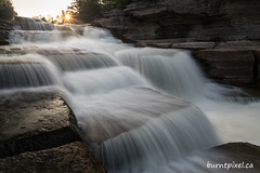 Bonnechere Falls (burntpixel.ca) Tags: canada ontario photo photograph rural fine art patrick mcneill burntpixel beautiful amazing landscape sony a7r2 a7rii sonya7r2 wander adventure water waterfall falls bonnechere sunstar levels rocks sunset sunrise