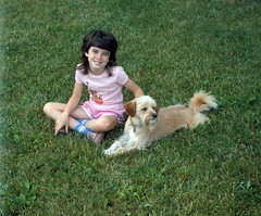 MegwithSammy (michaelmaguire4) Tags: grass girl dog