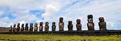 Moai at Ahu Tongariki, Easter Island (Rapa Nui: Rapa Nui, Spanish: Isla de Pascua). (David D Moore) Tags: easterisland rapanui isladepascua moai ahutongariki ranoraraku anakena ahuakivi theseven birdmancult birdman birdmen orongo ahutahai koteriku tahai vaiure ranokau polynesia chile