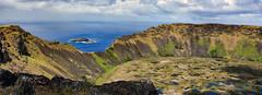 Rano Kau volcanic crater, Easter Island (Rapa Nui: Rapa Nui, Spanish: Isla de Pascua) (David D Moore) Tags: easterisland rapanui isladepascua moai ahutongariki ranoraraku anakena ahuakivi theseven birdmancult birdman birdmen orongo ahutahai koteriku tahai vaiure ranokau polynesia chile