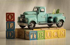 Old Truck (HTT) (13skies) Tags: staged toy metal blocks buildingblocks toytruck older playing truckthursday htt happytruckthursday