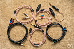 Cables (TheGame21x) Tags: cables audiocables audiophile audiophilecables handmadecables silvercables headphonecables headphones audiogear audio