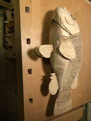 2018-03-20 00.13.45 (Dr.DeNo) Tags: 2018 spring black fish tautog wood carving carver whittle art marine burn