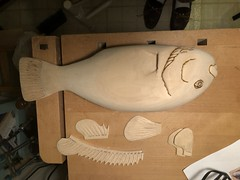 2018-03-17 23.32.29 (Dr.DeNo) Tags: 2018 spring black fish tautog wood carving carver whittle art marine smooth sanded