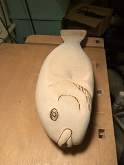 2018-03-17 23.31.01 (Dr.DeNo) Tags: 2018 spring black fish tautog wood carving carver whittle art marine smooth sanded