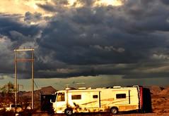 Storm brewing (thomasgorman1) Tags: quartzsite az arizona nikon clouds storm weather cloudy overcast gloomy dark sky camping campground rv
