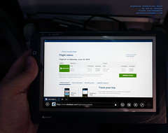My 30 June 2018 in-flight free Alaska Airlines tablet (AvgeekJoe) Tags: 737990 737990erwl alaskaair alaskaairlines boeing737 boeing737900 boeing737990 boeing737990erwl d5300 dslr jetliners n275ak nikon nikond5300 windowstablet aircraft airplane aviation jetliner plane tablet