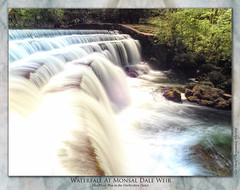 Monsal Dale Weir (Creamy) (setsuyostar) Tags: monsaldale waterfalls rivers riverwye peakdistrict nikoncoolpixp900 spring2019 may2019 topazstudio kenhawley
