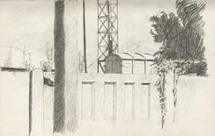 Old green wagon (Bohdan Tymo) Tags: pencil drawing rail wagon car