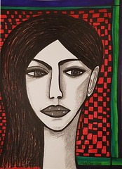 Woman israeli art drawings and paintings (female artwork) Tags: original art israel israeli painting painter draw drawing drawings artistic illustrate wood sculpture acrylic colors colours view image views images bright black white museum galleries gallery paitings exhibit visual naivi paint painters artist collectors collection exhibition jewish woman women illustration relief modern contemporary portrait canvas pencil markers female