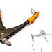 Hand rivet gun on white background
