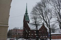 Helsinki view 395 (sohvimus) Tags: helsinki helsingfors talvi lumi snow kaartinkaupunki suomi finland vinter snö winter hiver saksalainenkirkko kirke kyrka church kirkko