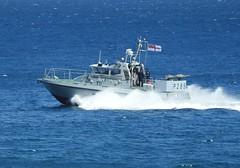 Royal Navy Scimitar Class Patrol Boat HMS Sabre P285 off Catalan Bay, Gibraltar (2) (andrew.dace) Tags: roayl navy scimitar class hms sabre p285 gibraltar
