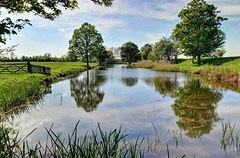 Elizabethan Water Garden, Lyveden, Northamptonshire (Baz Richardson (now away for a few days)) Tags: northamptonshire lyvedennewbield elizabethanwatergarden sirthomastresham reflections water