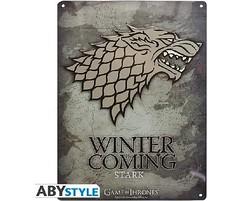 Game of Thrones Metalen Plaat Stark 28X38CM (filmflits) Tags: gameofthrones got stark muurdecoratie winteriscoming metalenplaat muurplaat