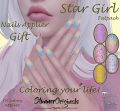 .:: StunnerOriginals ::.Gift Nails Applier Star Girl (Stunner Originals) Tags: nails applier maitreya belleza itsmayletsgetdeals