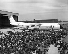 Morrow_0453 Lockheed C-5A factory rollout (San Diego Air & Space Museum Archives) Tags: 668303 cn5000001 5000001 aviation aircraft airplane militaryaviation unitedstatesairforce usairforce usaf lockheed lockheedc5galaxy lockheedc5 c5galaxy c5 lockheedgalaxy lockheedc5agalaxy lockheedc5a c5agalaxy c5a generalelectric ge generalelectrictf39 getf39 tf39 tf39ge1 fred