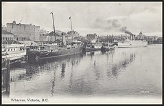 c. 1908 (#102,898) Valentine & Sons Postcard - The Wharves / Ships at Victoria, British Columbia, Canada (Treasures from the Past) Tags: postcard victoria bc britishcolumbia wharves ships canada valentine valentinesonspublishingco