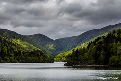 The lanscape of Kruth-Wildenstein lake (Mieczysław Skrzypski) Tags: france grandest hautrhin kruthwildenstein lacdekruthwildenstein massifofgrandventron national vosges cloud clouds landscape massif montainsrange mountain mountainrange mountains mountainscape nationalpark nature outdoor park rain spring travel treking