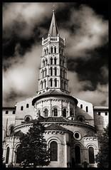 Saint-Sernin (albireo 2006) Tags: saintsernin stsernin toulouse occitanie france church blackwhitephotos blackandwhite blackandwhitephotos blackwhite bw bn
