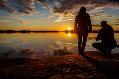 sunset by a lake in Finland (VisitLakeland) Tags: finland kallavesi kuopio kuopiotahko lakeland auringonlasku ilta järvi lake luonto maisema nature outdoor scenery sunset