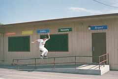IMG_0093 (dannondale) Tags: skateboarding skateboard boardslide california expiredfilm 35mm film nikonf2 fujifilm superia200