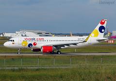 F-WWBU Airbus A320 Viva Air (@Eurospot) Tags: hk5319 airbus a320 8994 vivaair toulouse blagnac