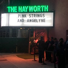 Pink Strings & Angelyne (jericl cat) Tags: bob baker marionette theatre dynasty typewriter theater pink strings angelyne puppetry wilshire marquee hayworth