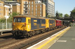 73119 and 73128 Kensington (Olympia) (localet63) Tags: class73 73119 73128 gbrailfreight 2z82 kensingtonolympia