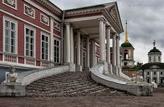 Entrance to the palace (Lyutik966) Tags: entrance palace architecture building column kuskovo manor moscow russia museum temple religion
