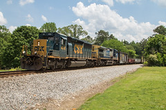 CSX A025 at Acworth (travisnewman100) Tags: csx train railroad rr freight maintenance way mow sd403 emd ge c408w yn2 yn3 a025 acworth wa subdivision atlanta division