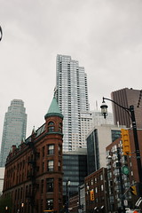 Something Old, Something New (Breanna.m) Tags: toronto street streetphotography urban buildings downtown flatironbuilding gooderhambuinding 5dclassic 40mm