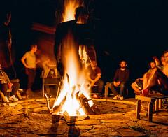 Fire Pit Double (GPhace) Tags: 120mm 2019 kodak mamiya mediumformat portra400 rb67pros spring upstatenewyork bachelorparty doubleexsposure firepit tripod