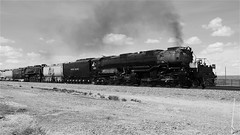 UP Big Boy #4014 and UP #844 Doubleheader To Cheyenne, WY! (844steamtrain) Tags: 844steamtrain flickr up union pacific 4014 big boy steam locomotive engine train trains railroad railway biggest largest heaviest sp 4449 844 3985 prr 5550 t1 trust flying scotsman lner mallard most popular video videos trump news new views viewed trending relevant recommended related top shared america usa viral galore culture science technology history metal machine travel tourism adventure events monochrome black and white blackandwhite photography photo