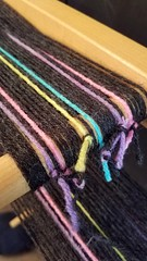 On a warping board tying odd number ends together. (Sweet Annie Woods) Tags: