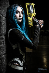 Awesome Con '19 - Maya (FightGuy Photography) Tags: borderlands maya gun weapon pistol bluehair cosplay cosplayer longhair wig awesomecon fightguyphotography canon7dmarkii strobist