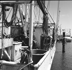 Worn out shrimper (MFBodisch) Tags: independent shrimp boat operator pass christian mississippi usa rolleicord va twin lens reflex tlr 120 roll film medium format classic camera kodak trix 400 yellow filter