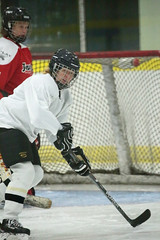 Awaiting The Pass (peterkelly) Tags: digital canon 6d northamerica canada ontario wheatley wheatleyareaarena icehockey hockey ice stick helmet woman net