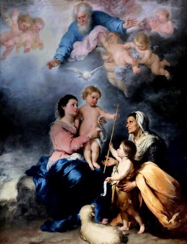 IMG_8510J Bartolome Esteban Murillo. 1618-1682. Séville    La Sainte Famille dit aussi la Vierge de Séville. The Holy Family also says the Virgin of Seville. vers 1670.    Louvre