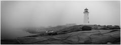 Peggy's Cove Panorama (Esaú Alberto Canto Novelo) Tags: canada erandi faro gente invierno mar paisaje peggyscove viaje windsor lighthouse sea ice snow novascotia nature blackandwhite bw blancoynegro