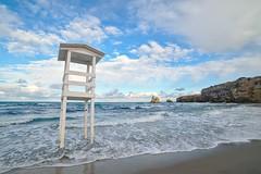 Here I stand (Fabio Viola) Tags: water tower sea seascape seaside shore sand rocks bay cove stacks salento apulia italy torredellorso sky clouds landscape italiansea waves